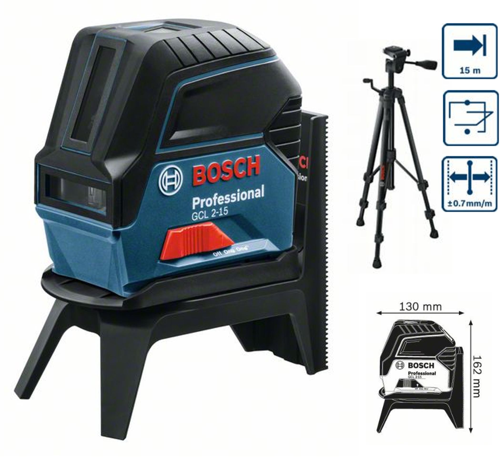 bosch bosch gcl 2 15 rm1 bt 150 kr ovo bodov laser fachman eh hobby s r o. Black Bedroom Furniture Sets. Home Design Ideas
