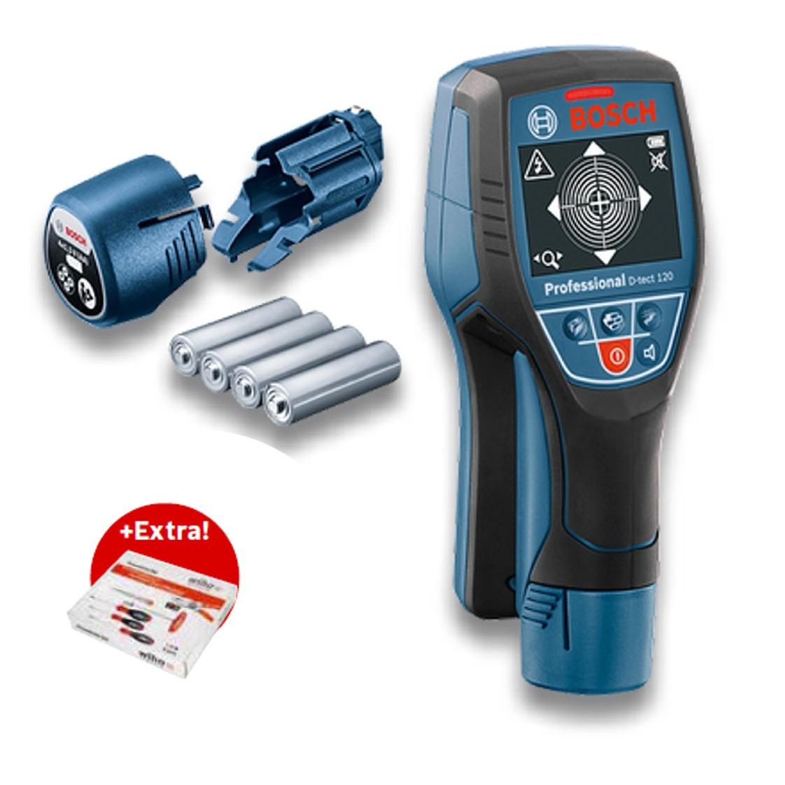 ed96a1c053c9c Bosch Wallscanner D-tect 120 Professional 4x1,5V AA
